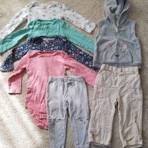 24m Girls longsleve shirt bundle